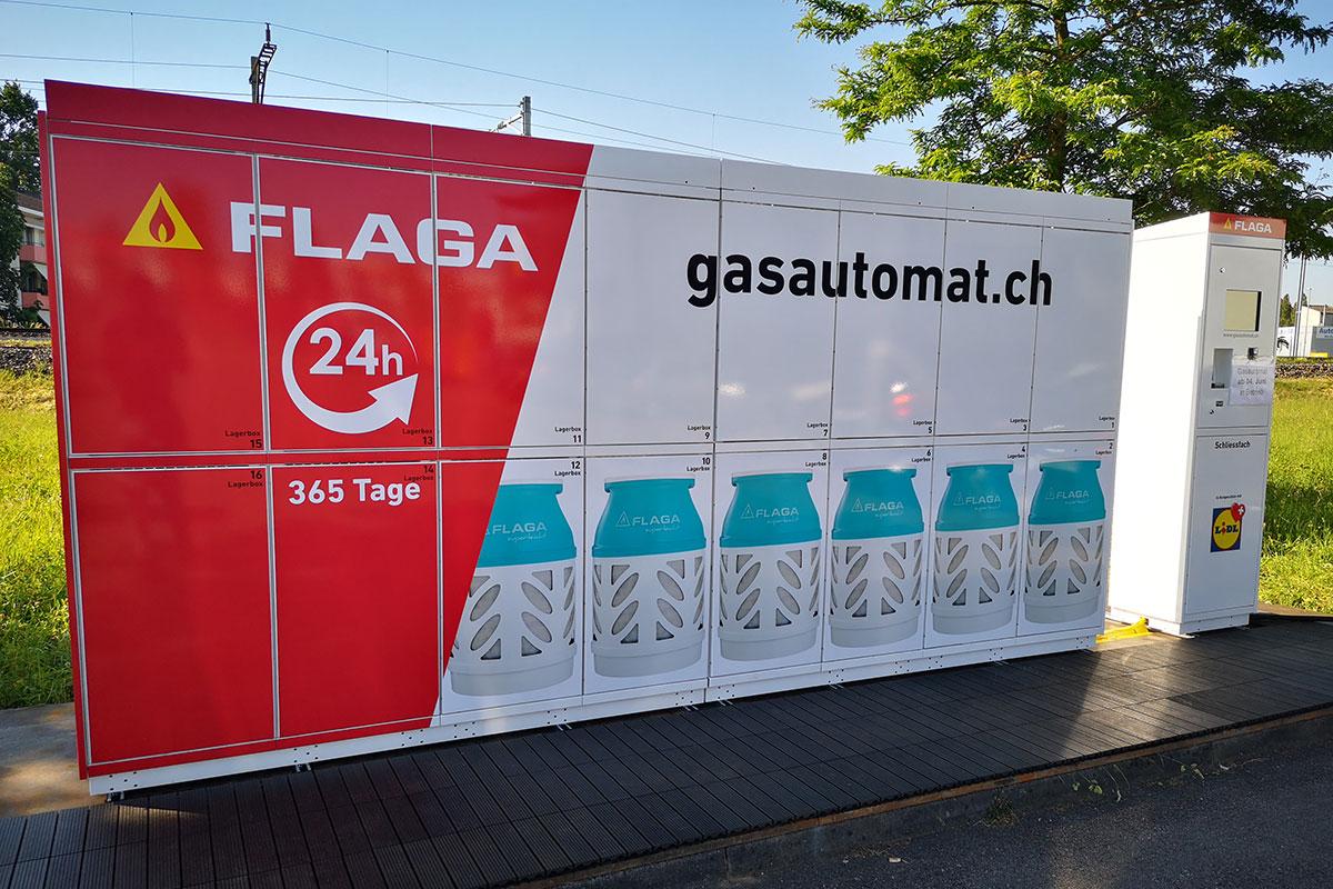 Der erste FLAGA Gasautomat in der Schweiz