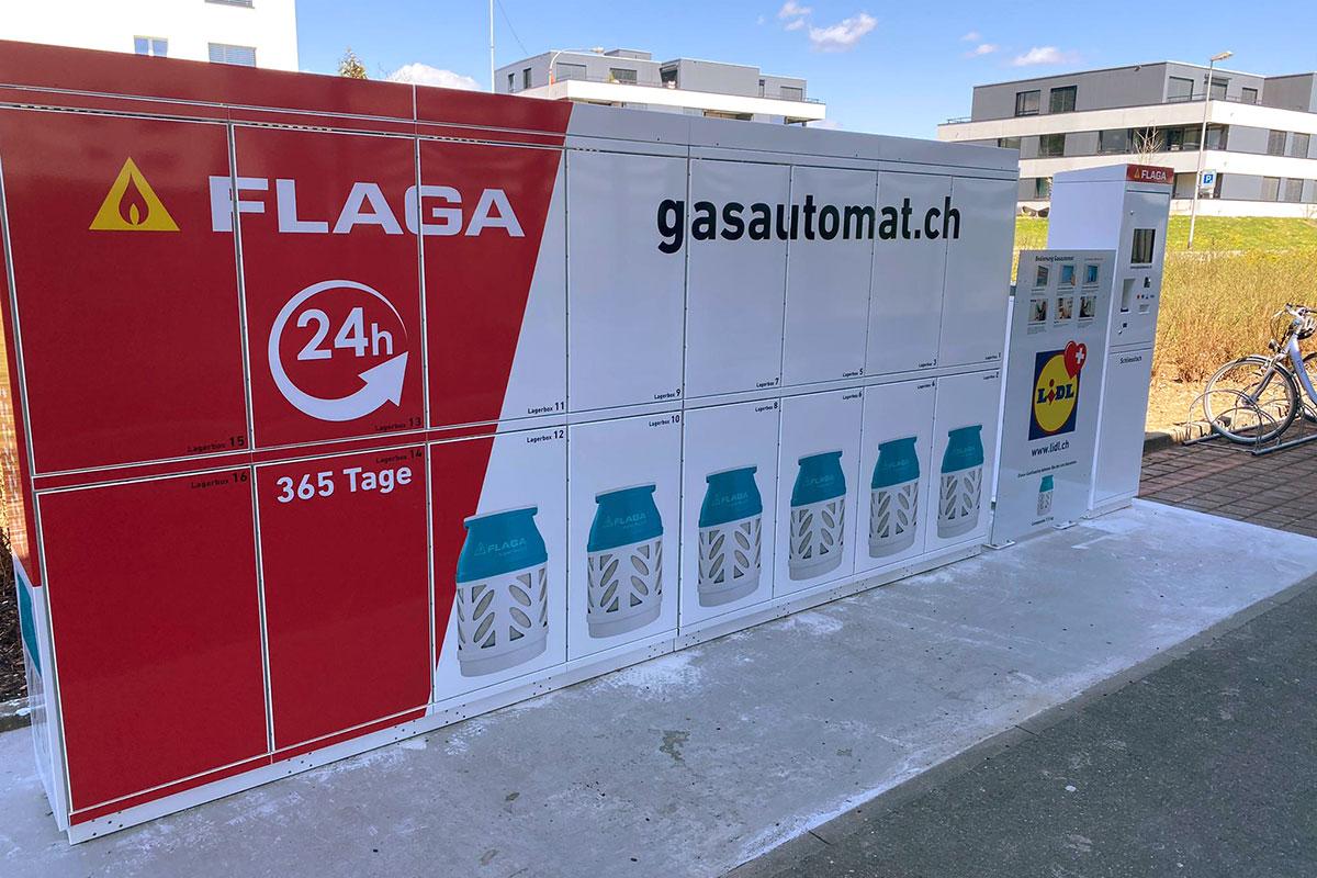 Lidl Oberglatt hat jetzt einen Gasautomat
