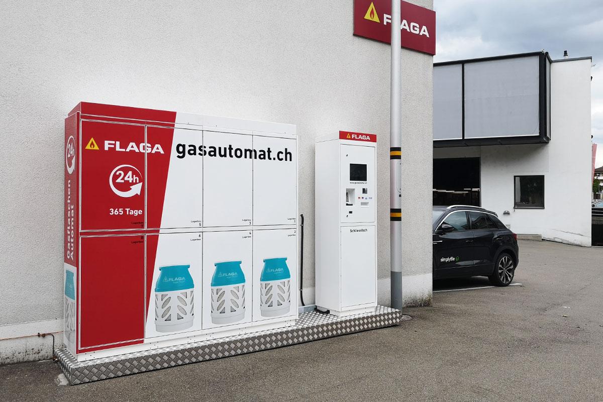 Erster 24 Stunden Gasautomat in Gossau