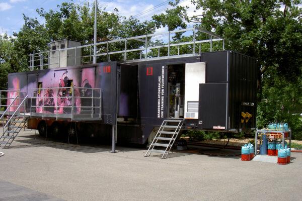 Mobile Brandsimulationsanlage